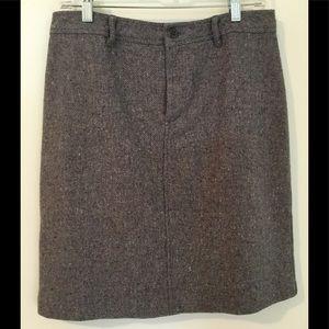 J Crew Tweed Skirt Womens Size 10 Enjoy Grey Wool
